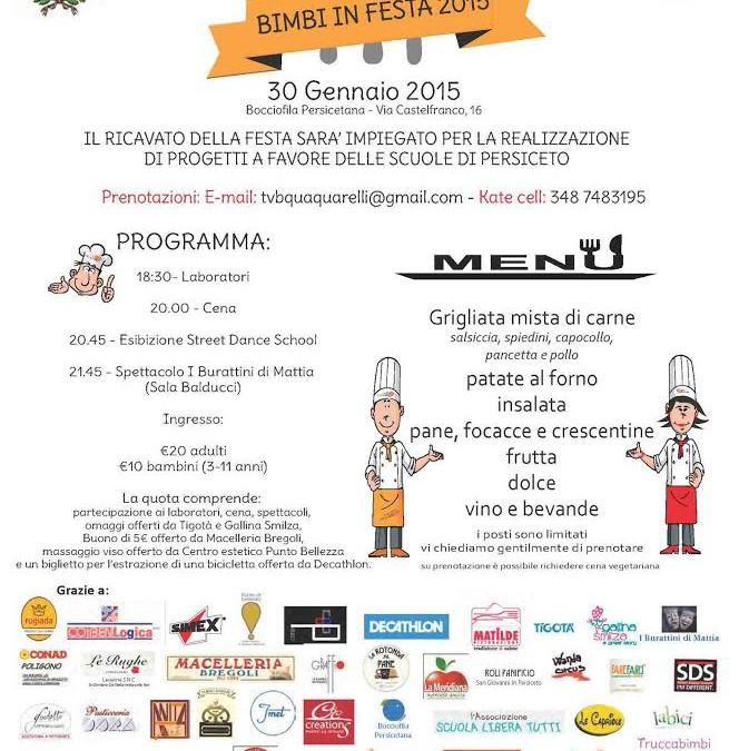 """Festa TVB Quaquarelli """"BIMBI IN FESTA"""""""