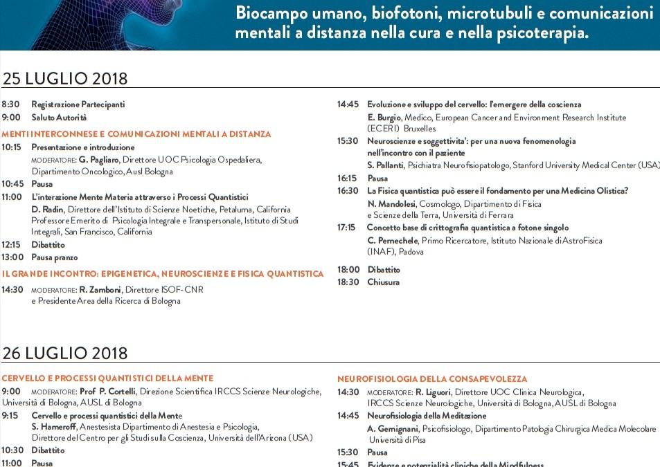 Convegno Internazionale – CERVELLO E PROCESSI QUANTISTICI DELLA MENTE